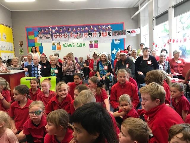 Children and staff at Ward School
