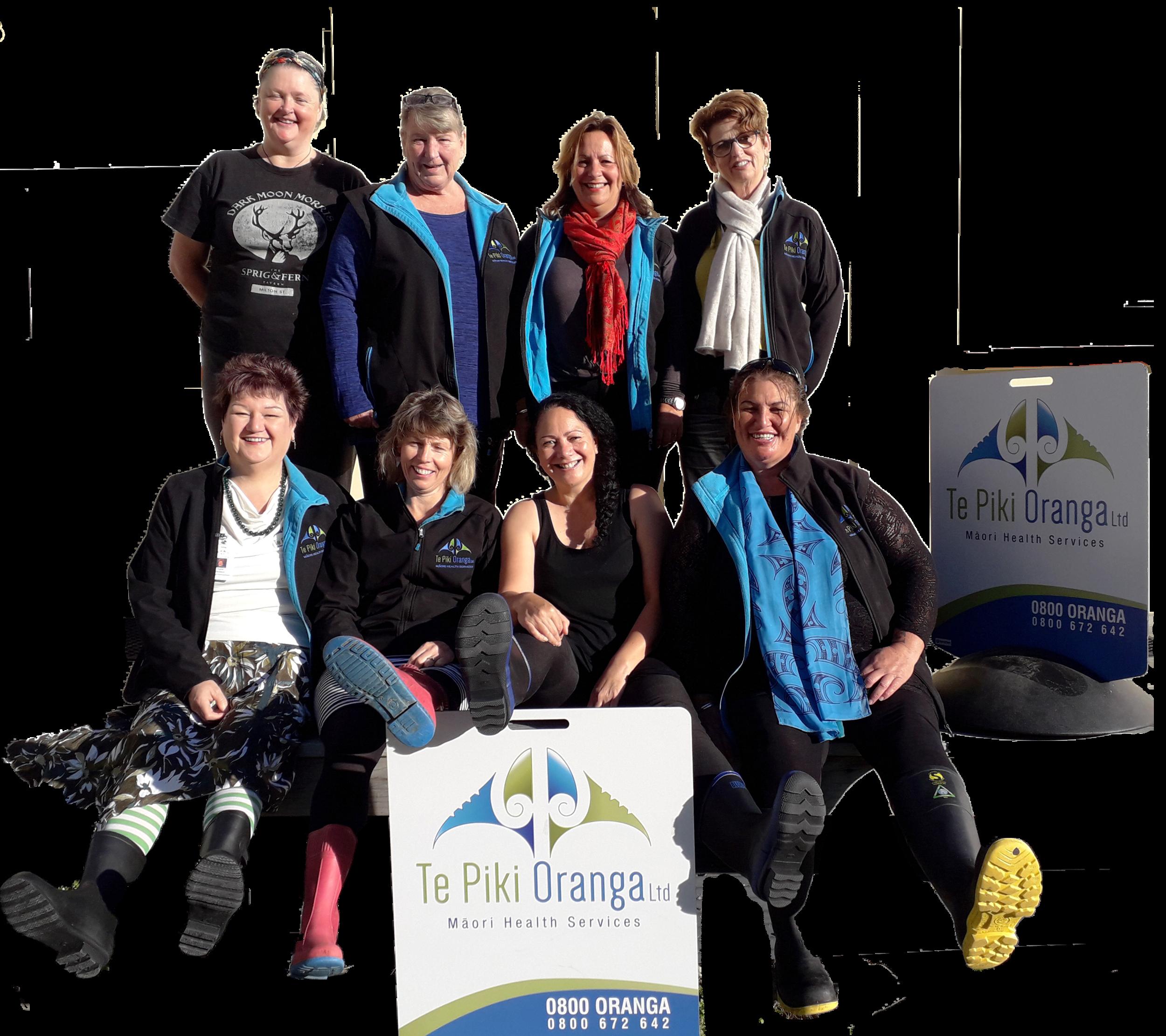 From top left clockwise: Jaine Cronin, Shelley Carter, Debbie Capatina, Carol Whitfield, Debbie Tauwhare, Marissa Scott, Dianne MacDonald and Karen Davidson
