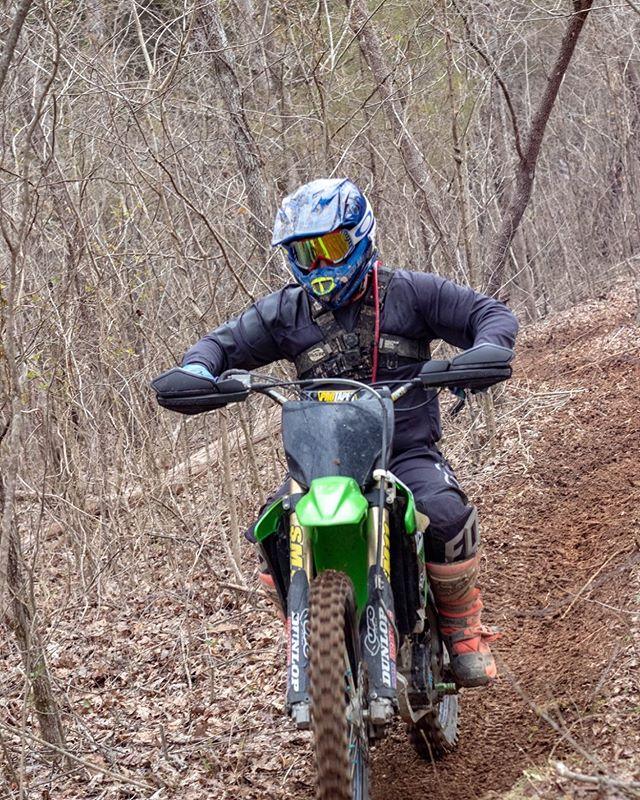 Friday focus. * * #ridemoonshine #moto #dirtbike #dirtbikesarecool #harescramble #kawasaki #kx250f #motoeveryday #readmeta #upshift_online #thumpertalk