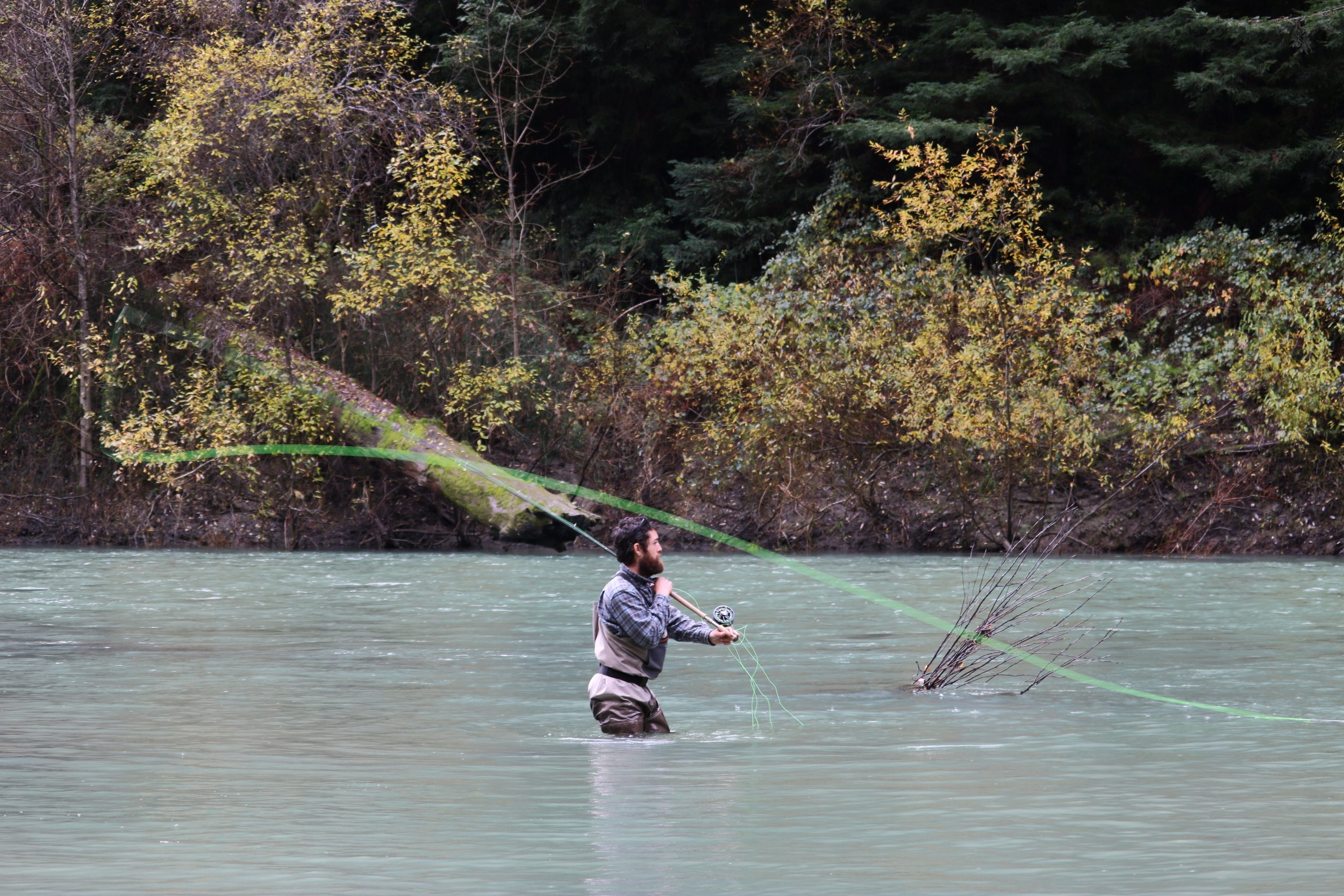 Setting up for a perry poke on the Eel River