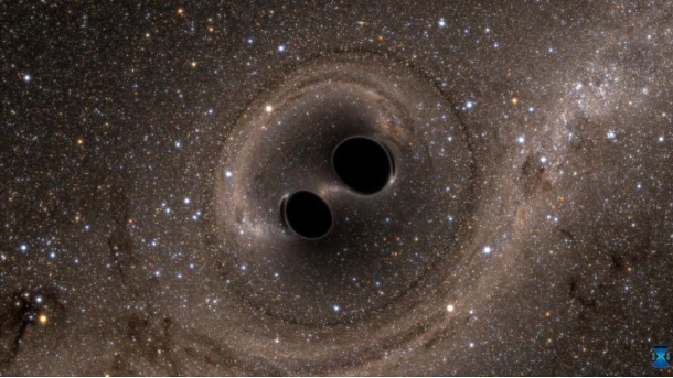 Image credit: SXS, the Simulating eXtreme Spacetimes (SXS) project (http://www.black-holes.org).