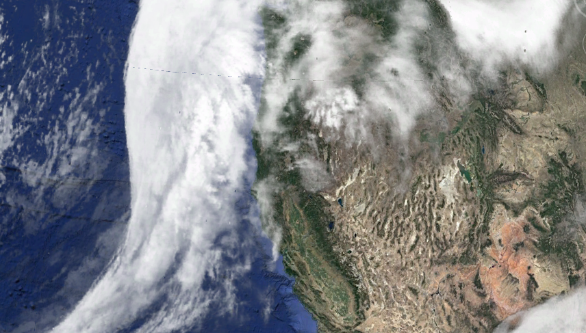 Here she comes.......(Image: Google Earth)