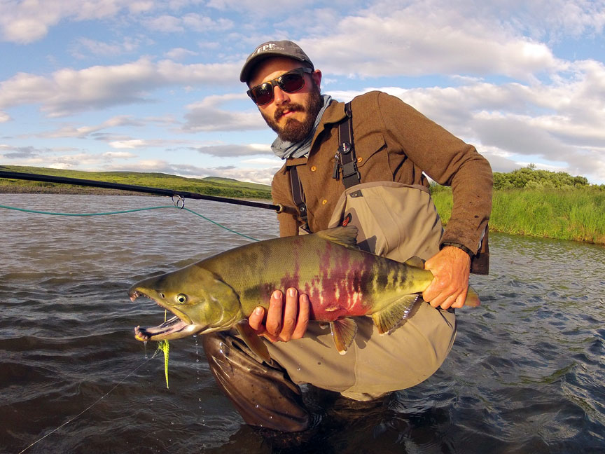 Swinging up Tigers on the 11-7wt switch. Not a bad way to spend an evening. Photo: Rus Schwausch