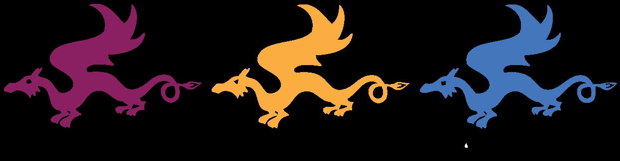 Three Dragons Academy color logo.