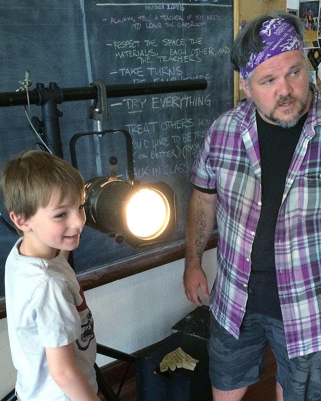 Lighting workshop at Three Dragons Academy.