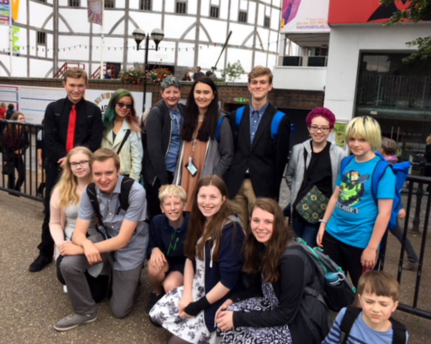 At the Globe Theater