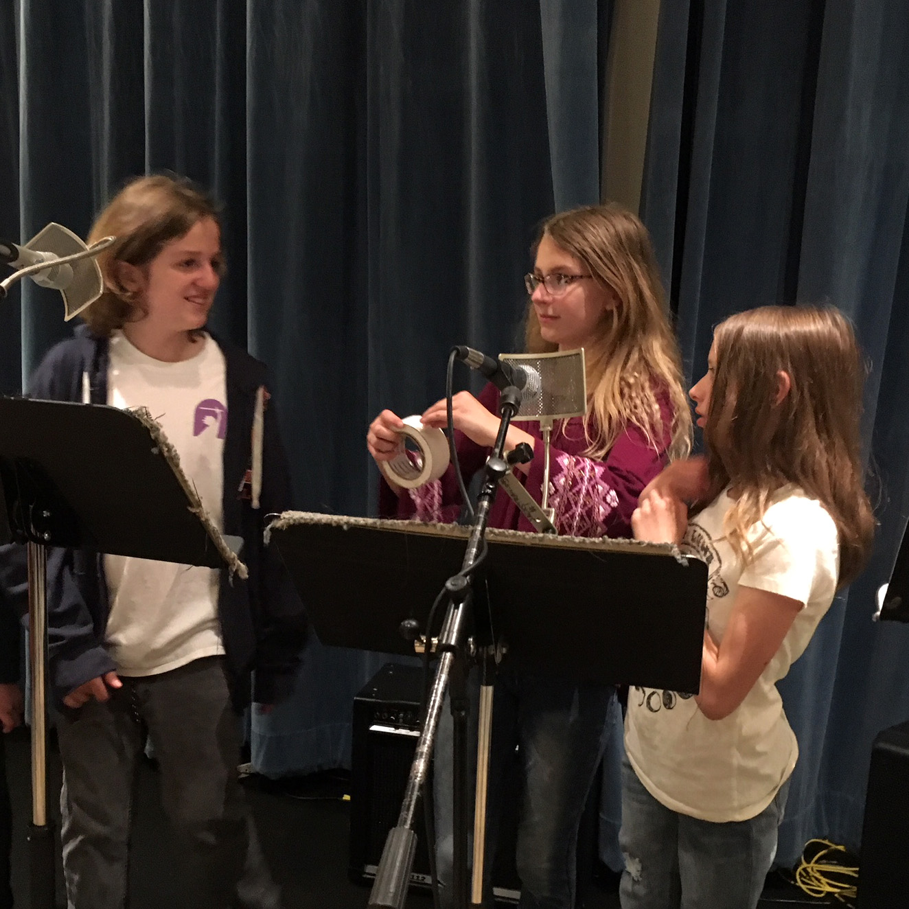 SPARK students record their own radio show.