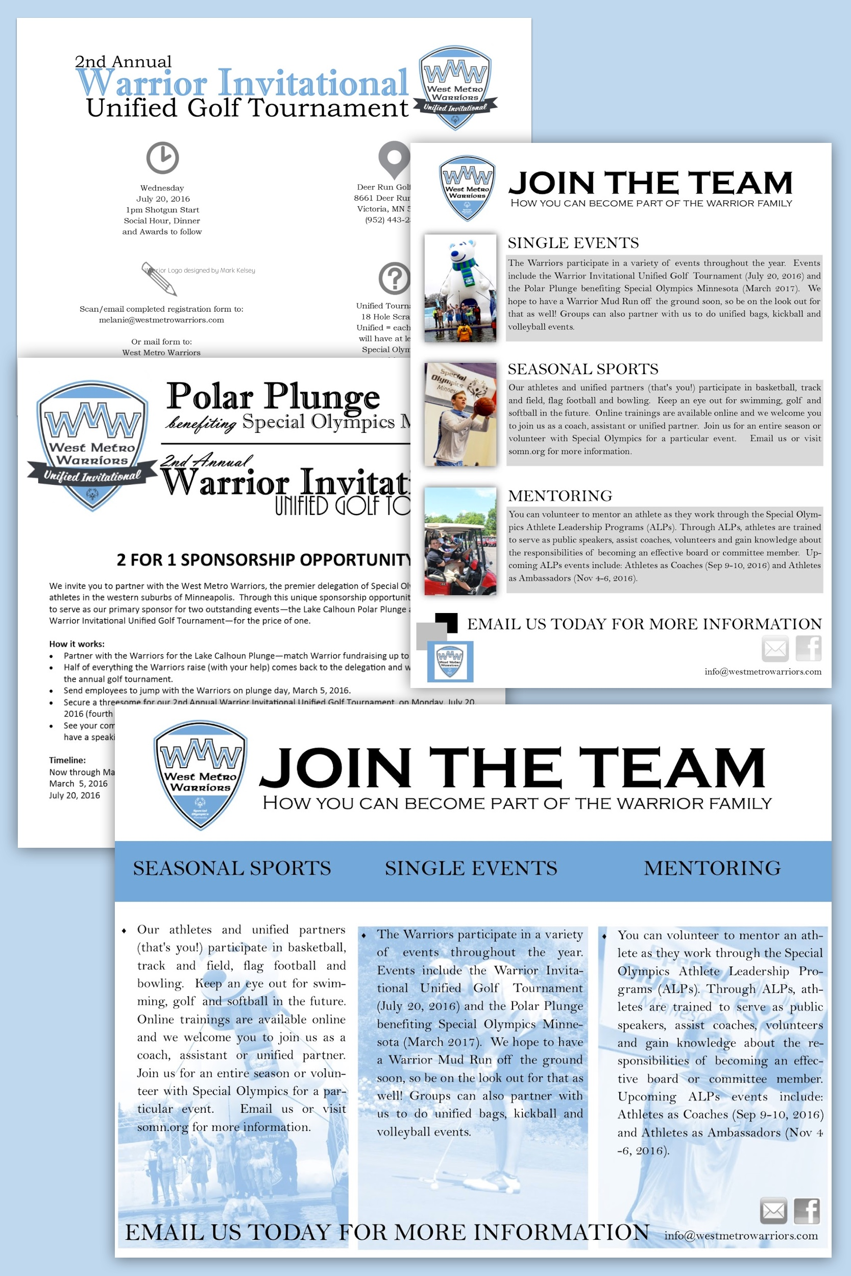 WMW Promotional Material & Golf Tournament