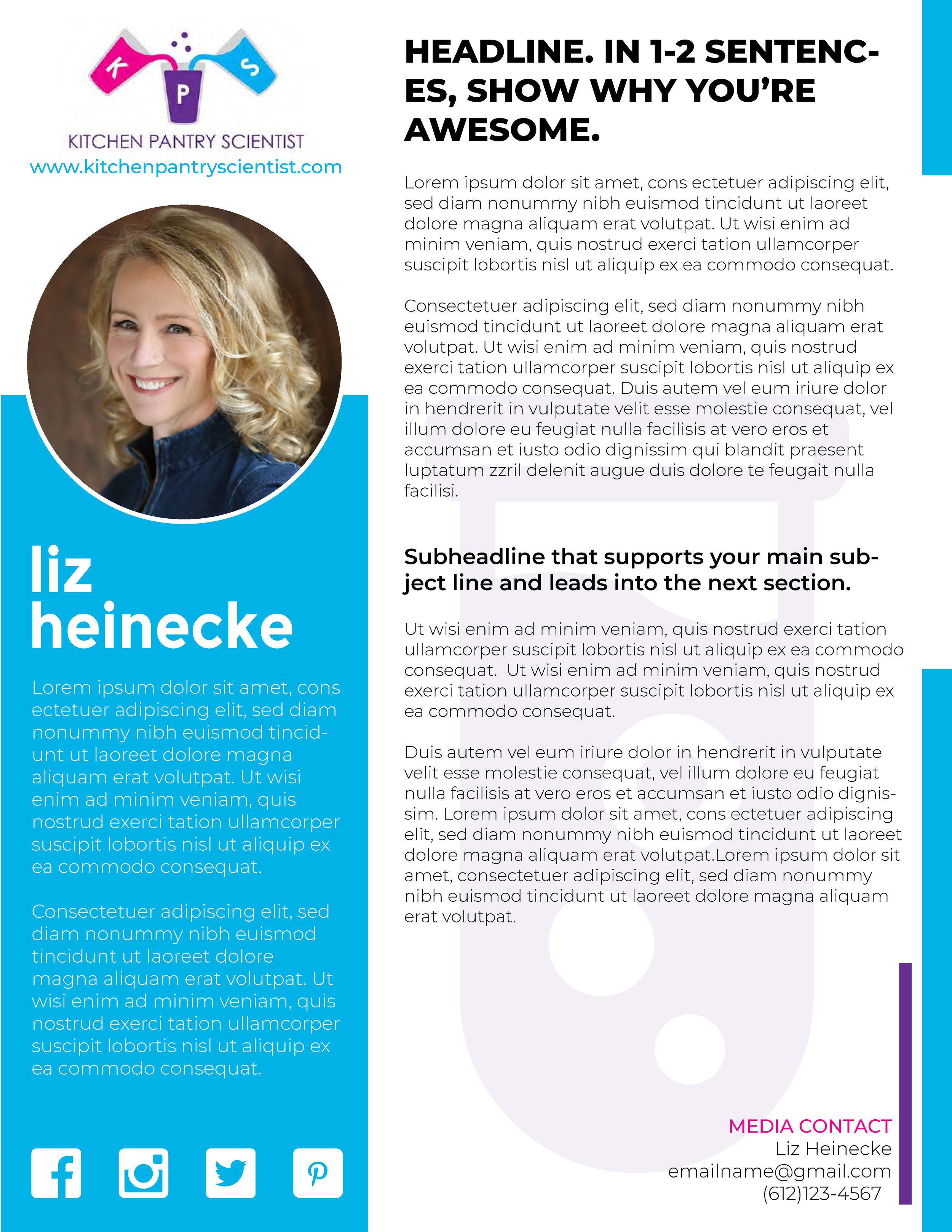 Media Kit Bio Page