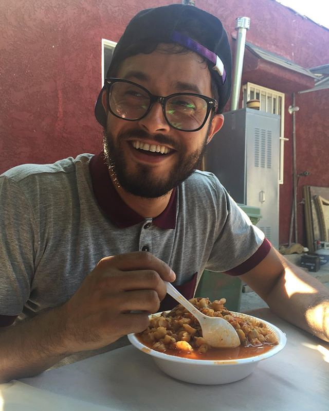 We Eat Pozole W/ ur MCM.  Happy BDay @profesorgalactico