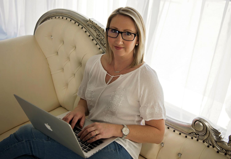 Author Jodi Gibson writing