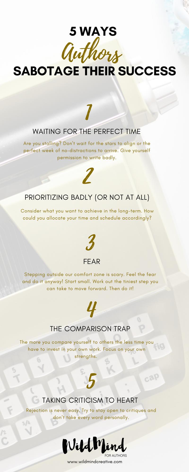 5 Ways Authors Sabotage Themselves