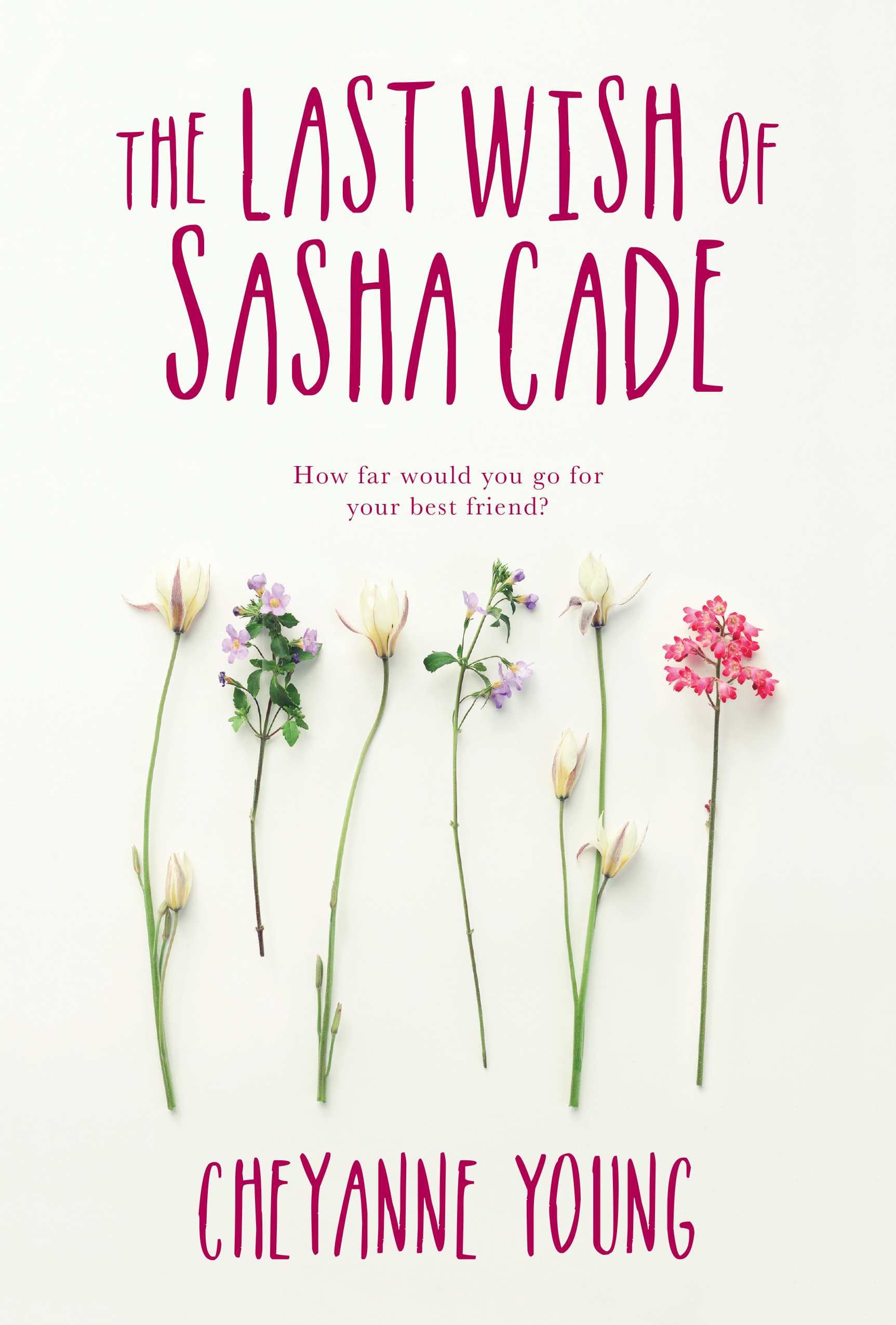 Book Cover for YA Novel - The Last Wish of Sasha Cade by author Cheyanne Young