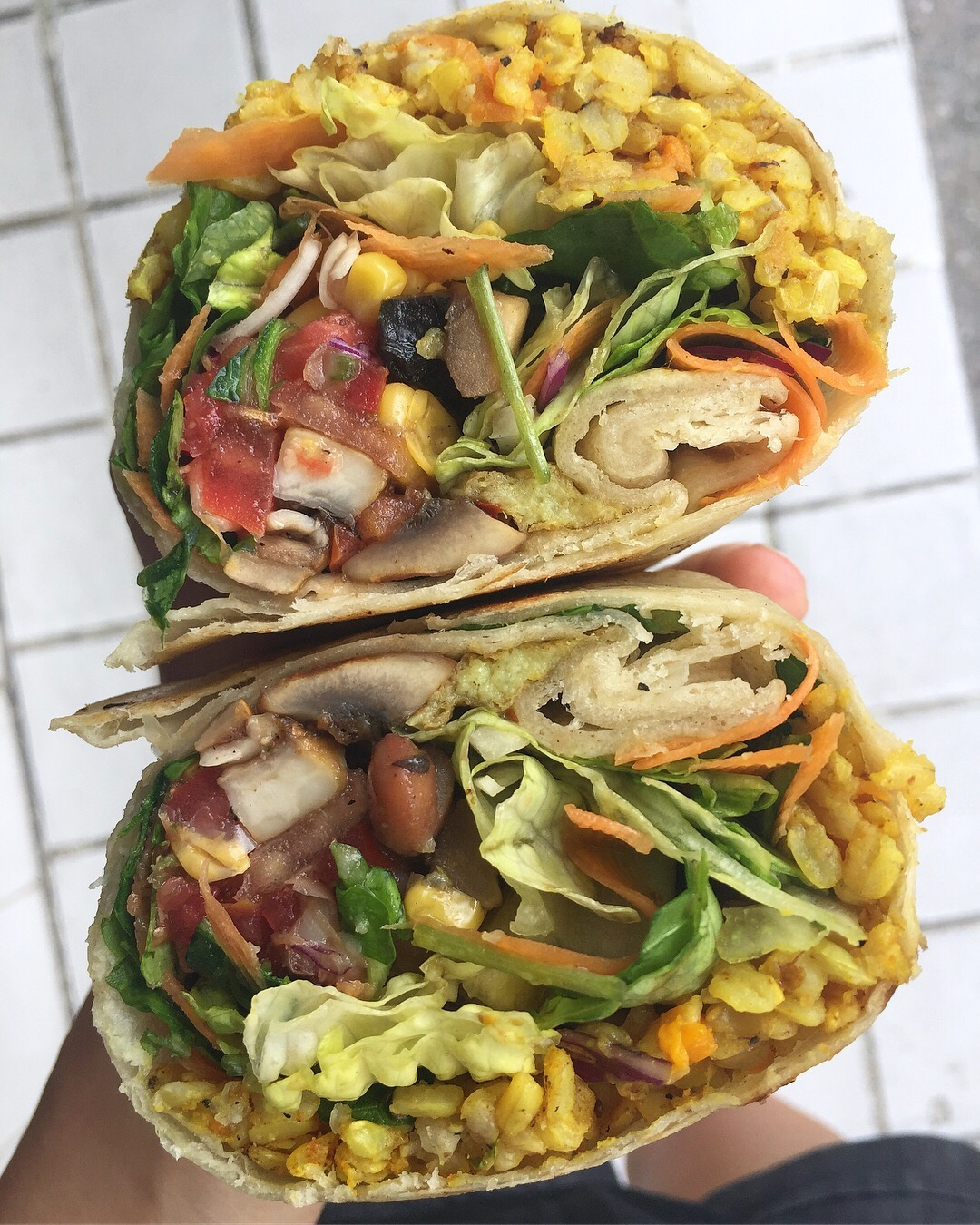 Burrito with everything at Veggie Table.