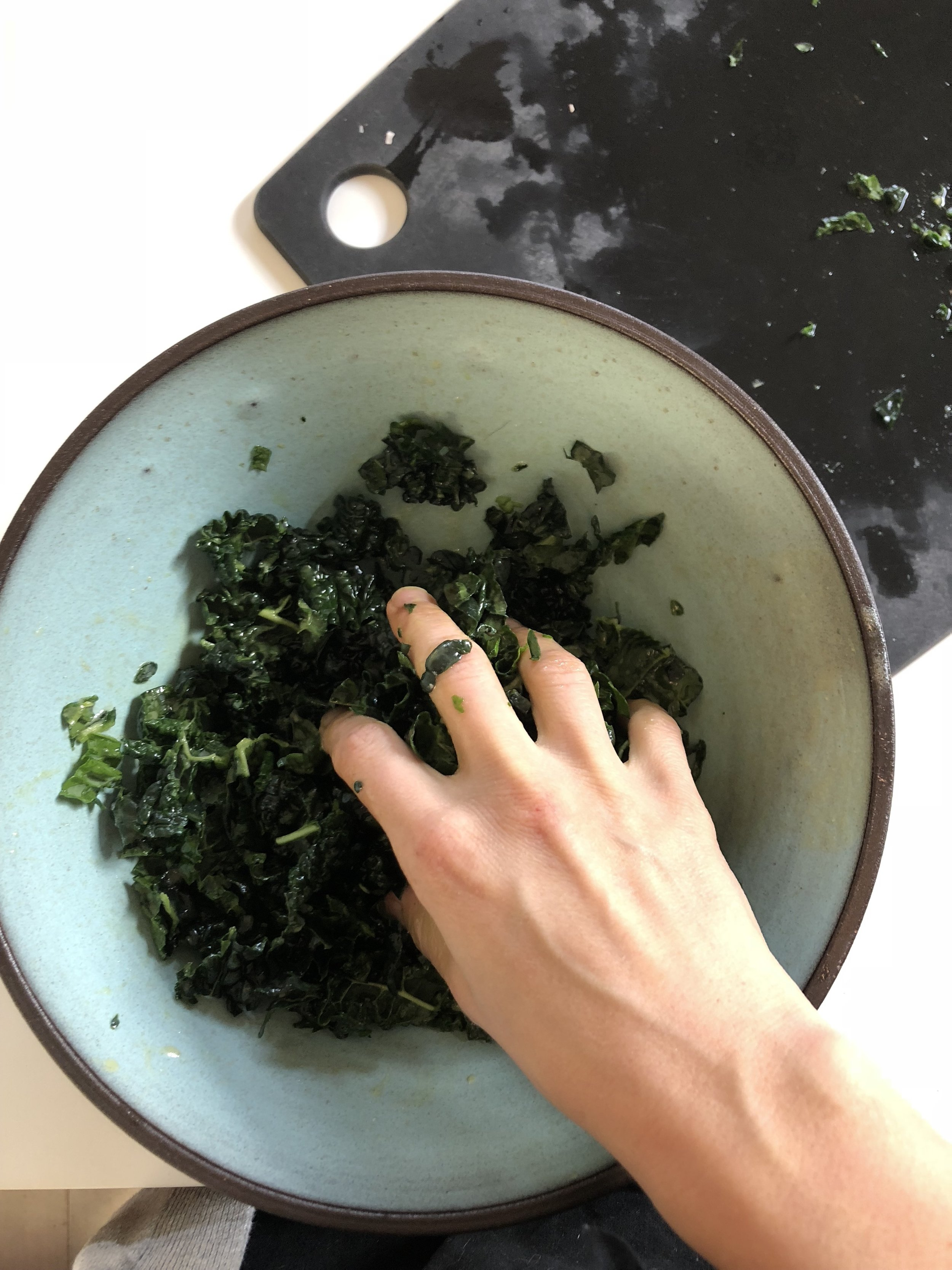 vinaigrette and kale
