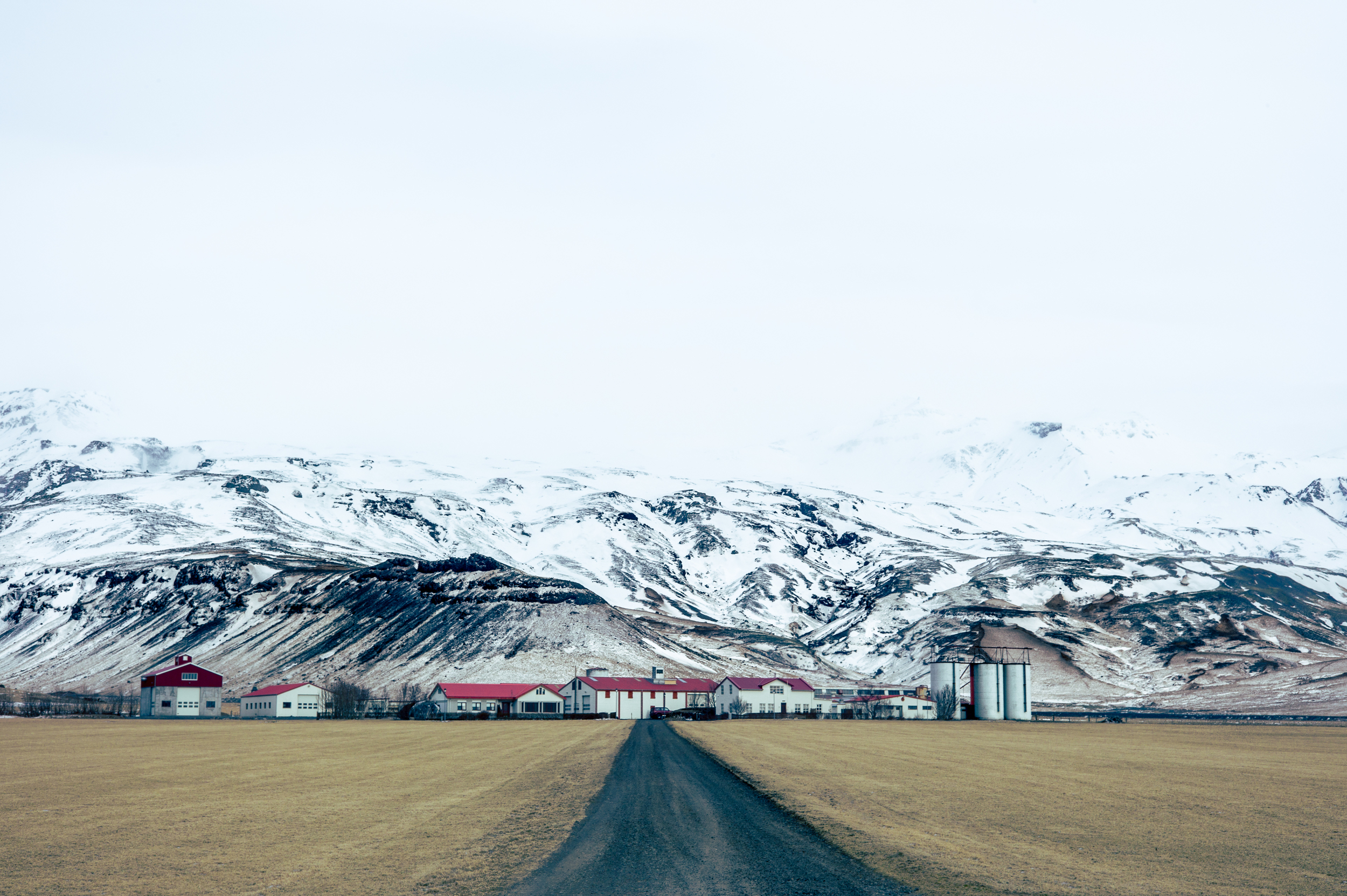 Farm near Eyjafjallajökull