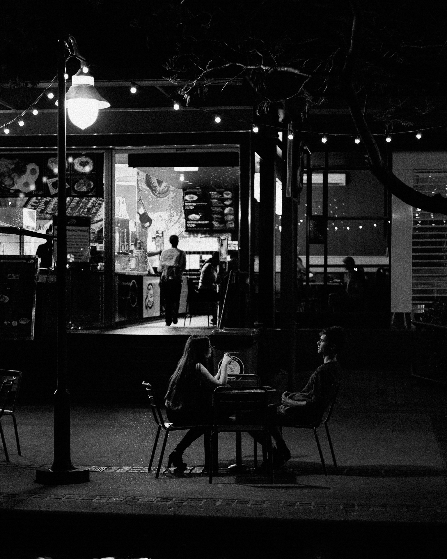 Dinner by Streetlight