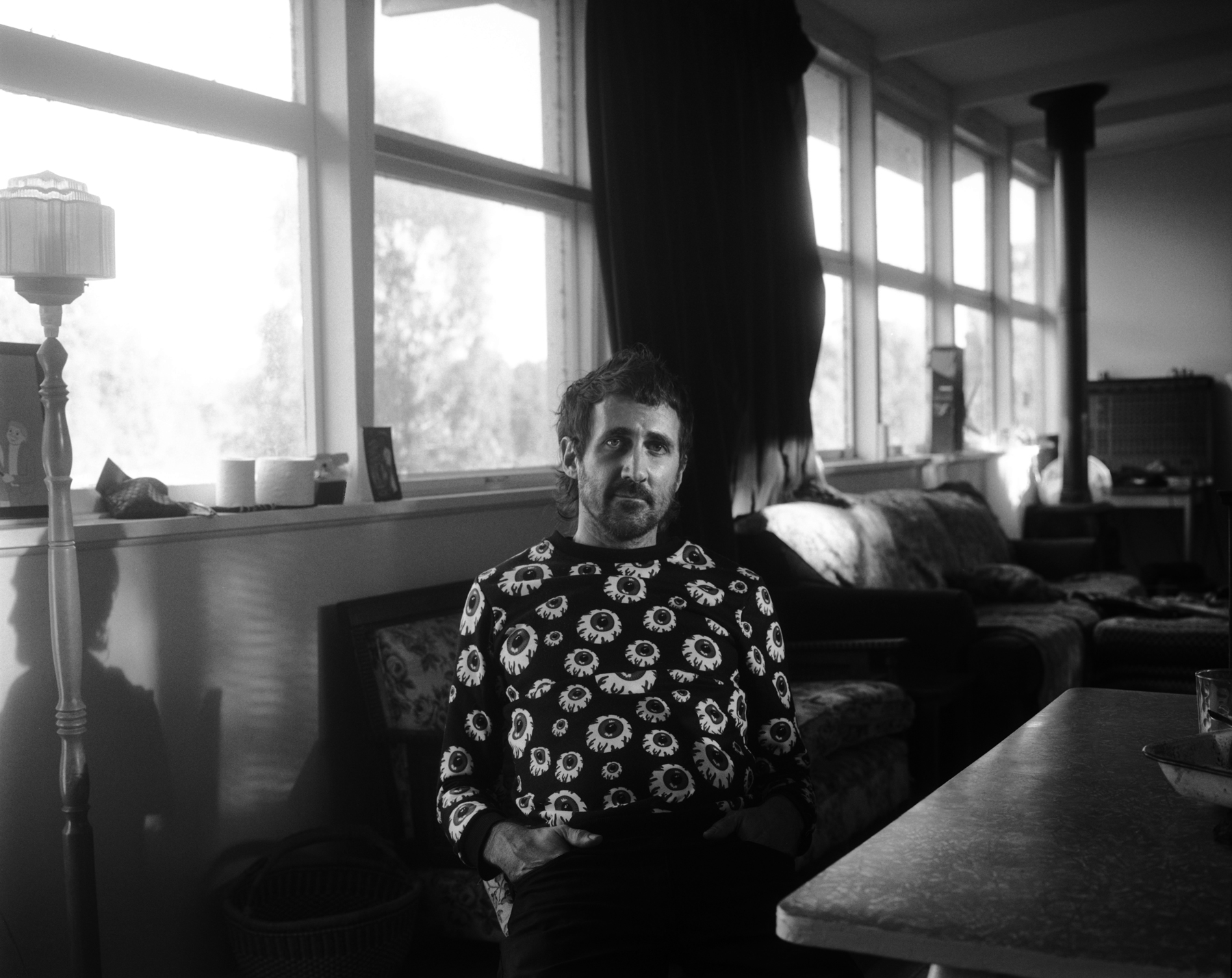 Tropical Fuck Storm's Gareth Liddiard pictured at home in regional Victoria for  Swampland  Issue 03. Photo by  Morgan Hickinbotham .