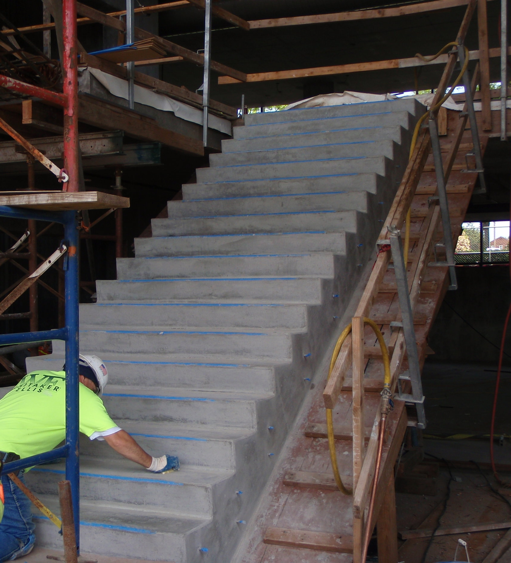 Whitaker/Ellis in the process of creating the award-winning staircase