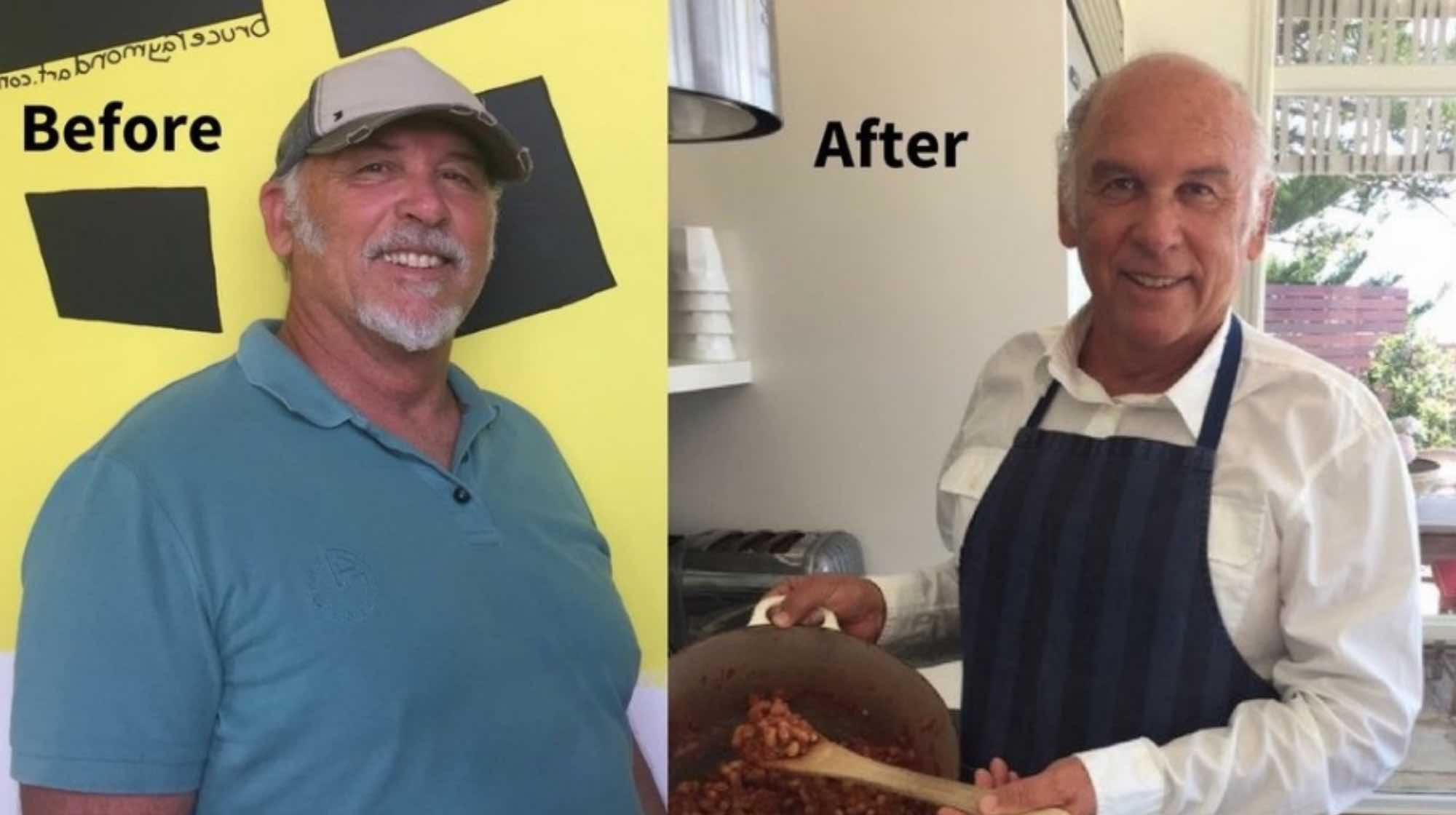 Bruce Raymond - Retired Boss Quicksilver International I Feel Good Program Before and After.jpg
