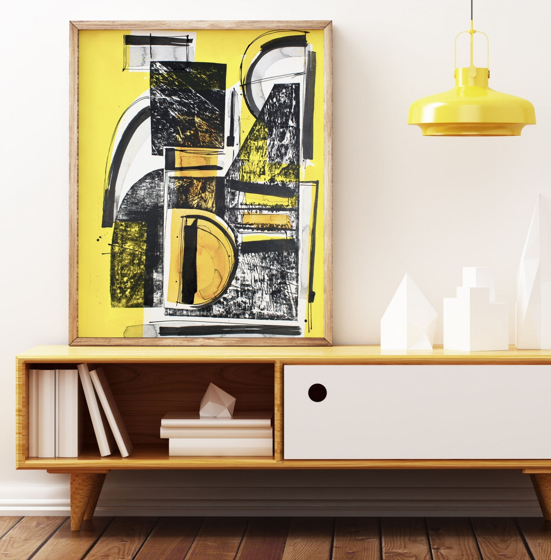 COLLECTION - Categories of black & white, mixed media color and collage on paper and wood panel