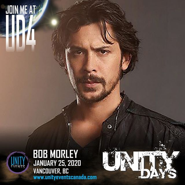 TGIF, Kru! Let's welcome back our friend, BOB MORLEY, to #UNITYDAYS2020!  Passes and extras on sale soon. Stay tuned to our socials and website for announcements.  #The100 #bobmorley #unitydays #the100convention #yvr #vancouver #604 #yvrevents