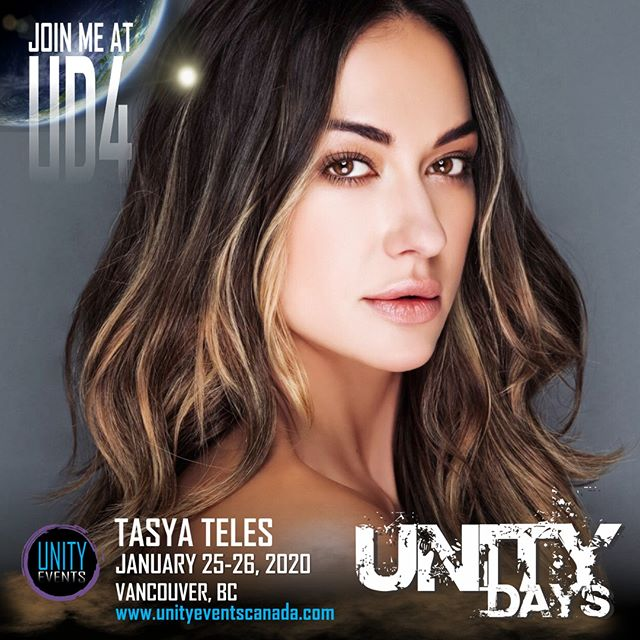 Happy Monday! Let's kick off the week with a beautiful guest announcement... TASYA TELES joins us for two days at #UNITYDAYS2020!  Passes and extras on sale soon. Stay tuned to our socials and website for announcements.  #the100 #echo #tasyateles #yvr #604 #yvrevents #vancouver