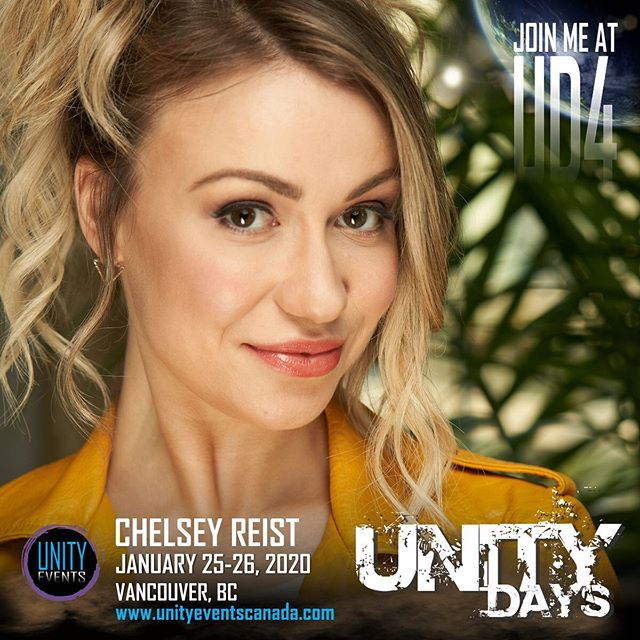 Happy #The100 Show Day! Please welcome our next #UNITYDAYS2020 bonus guest... CHELSEY REIST!  Chelsey appears on Saturday and Sunday. Her autograph and meet and greet is on sale now.  #chelseyreist #harpermcintyre #yvr #yvrevents #vancouver #604