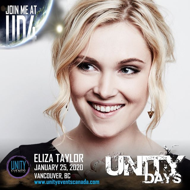 ‪We can't have a Unity Days without our leading lady, ELIZA TAYLOR. We're sure glad to have her back at #UNITYDAYS2020!‬ . Eliza's VIP pass and extras will go on sale tomorrow at 9am PT.‬ . 👉🏼 unityeventscanada.com/tickets‬