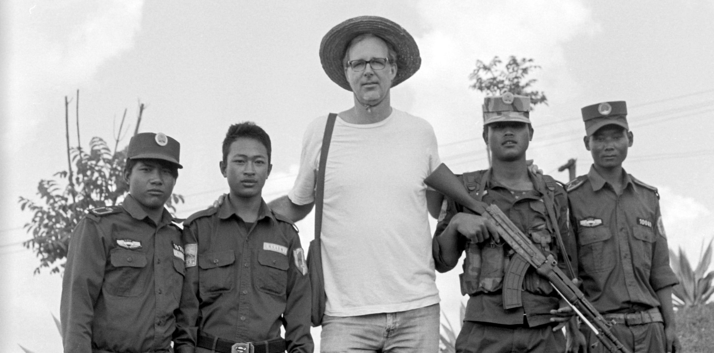 Scott Ezell with Wa State Army soldiers, China-Burma border, 2014.