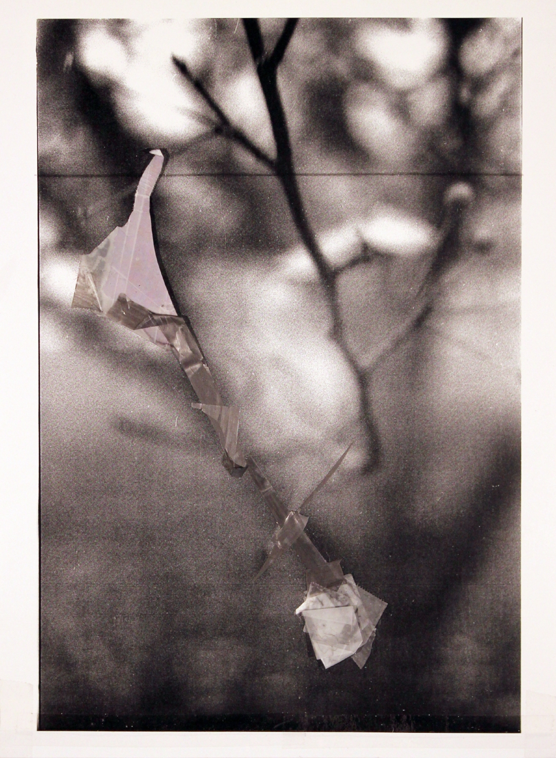 "The Only Moment We Were Alone    2017 graphite, transparent tape, laser print on matte photo paper 11 3/8"" x 8 1/2"""