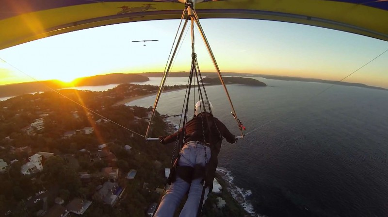 flying the sunset near palm bach