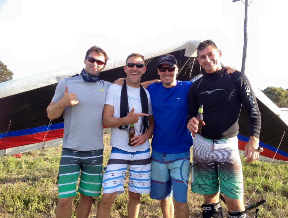 Aussie Pilots heading to compete in the Italian Worlds from left Nils Vesk (NSW), Craig Taylor (NSW), Rohan Taylor (NSW), Peter Burkitt (QLD)