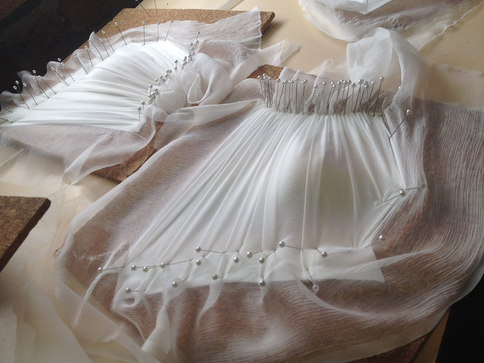 Hand Draping out bodices
