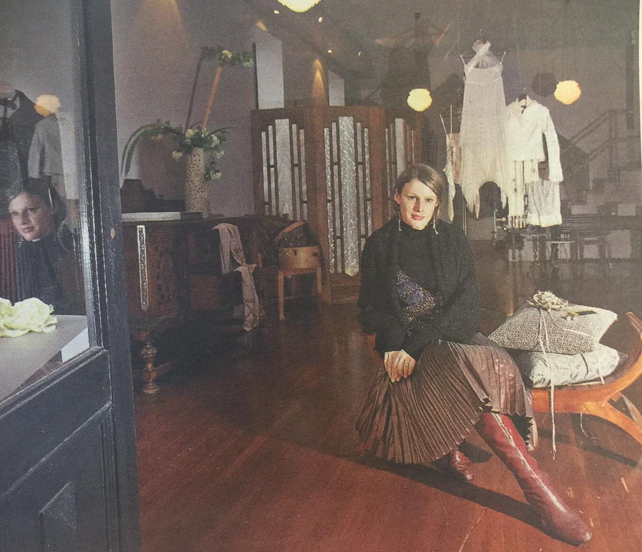 Gwendolynne Burkin Fashion Designer in her Boutique Fitzroy.jpg