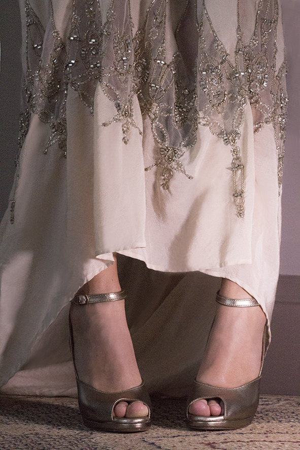 MOORE 2 Pewter Gwendolynne Preston Zly Wedding Shoes front with Neive dress.jpg