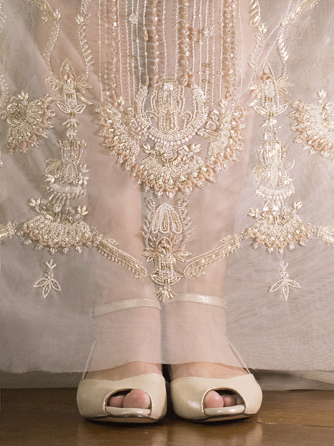 SIENNA 2 Gold Shimmer Gwendolynne Preston Zly Wedding Shoes front with Marrissa  dress.jpg