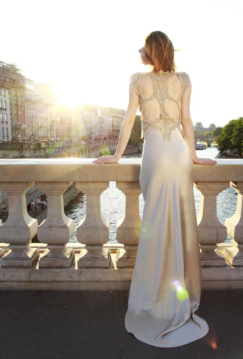 Gwendolynne Wedding Dress Arrow Vest