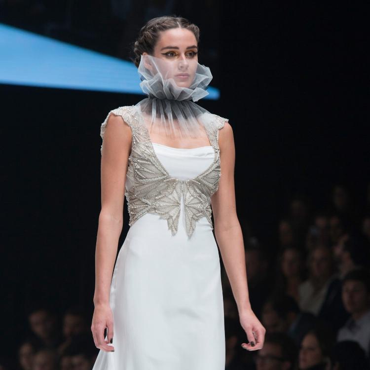 Gwendolynne Arrow Vest and North Wedding Dress