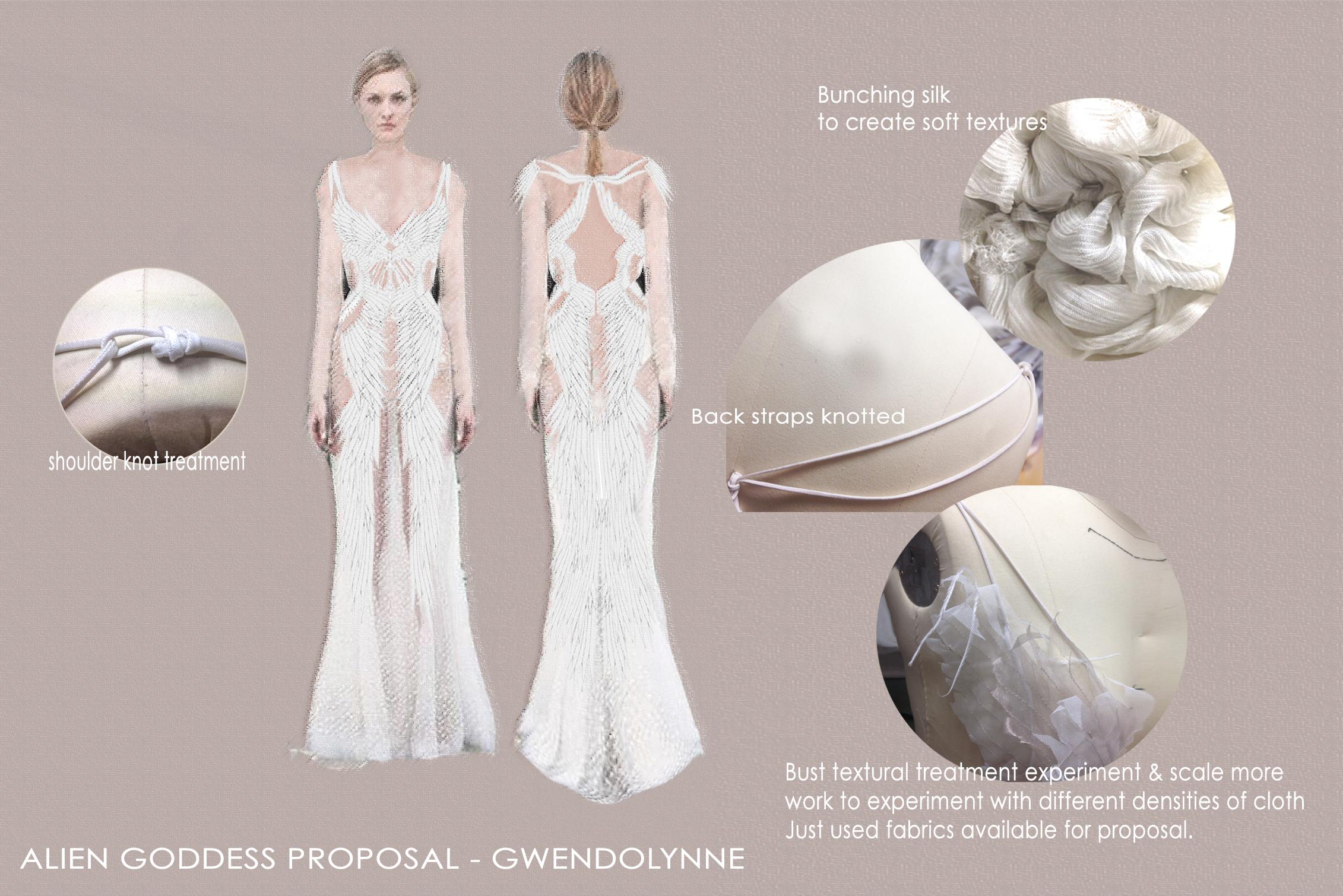 Alien Goddess Costume Concept for film