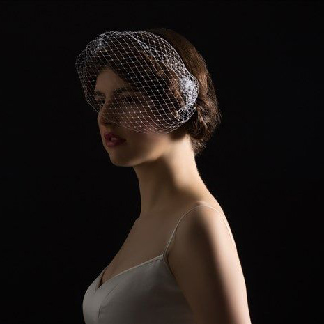 Birdcage cocktail veil