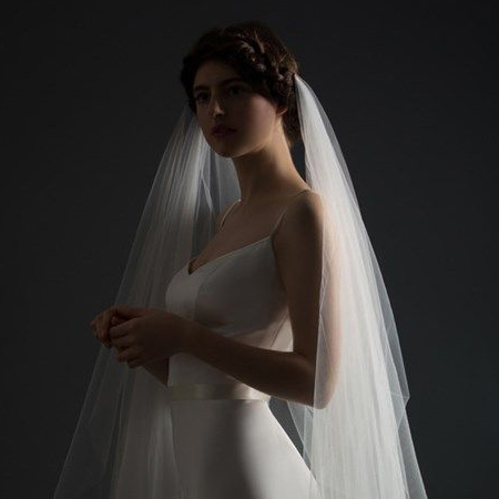 Draped Round Edged Veil