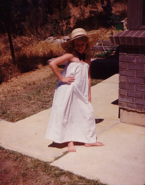 Dress ups at my family home in Athelstone, South Australia