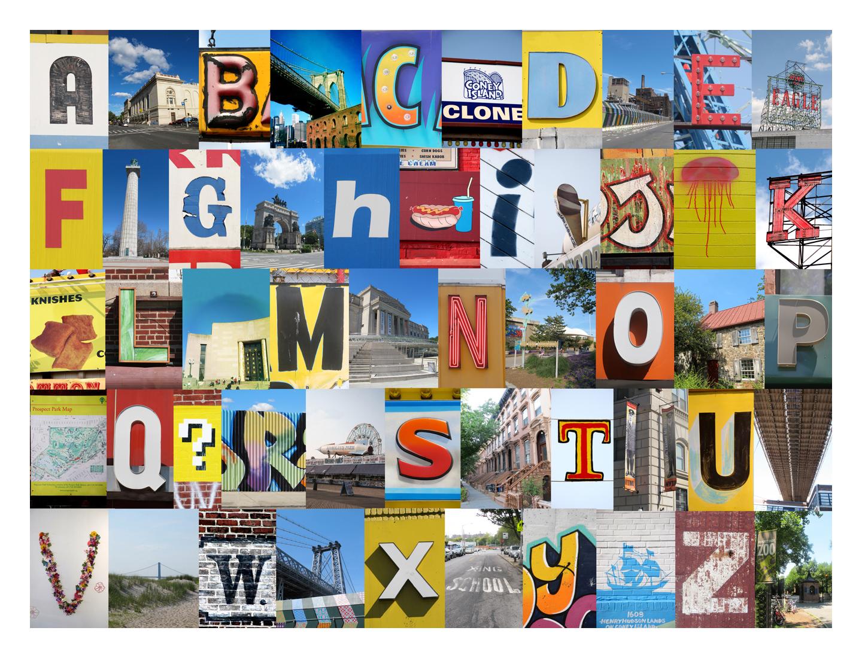 Lea's alphabets - Academy of Music, Brooklyn Bridge, Cyclone...