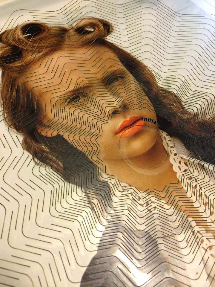 No title  Laserskåret foto fra et blad