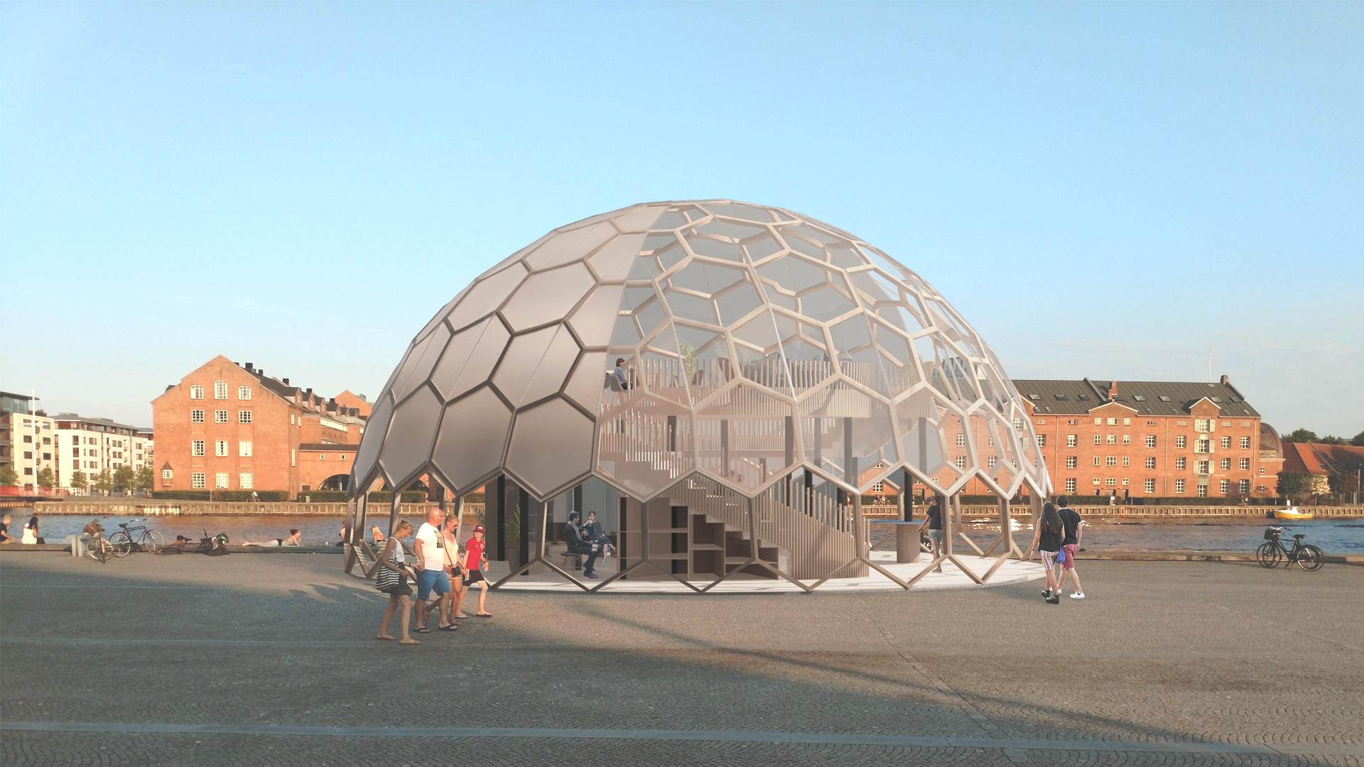 geodome   Design and concept by Greener Smarter Living / Education   Virksomhed :  GreenerSmarterLiving