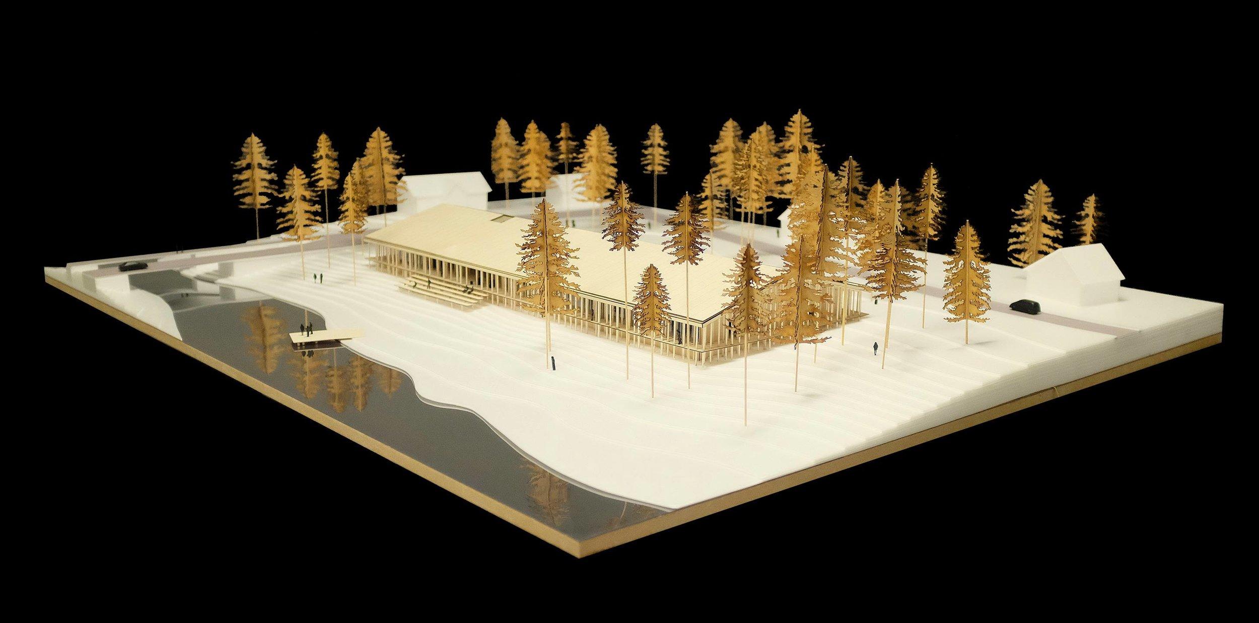 Model of Museum of Forest Finn Culture, Svullrya Norway  By  Lipinski Lasovsky Johansson