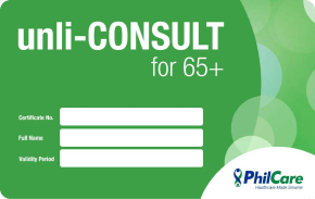 PHILCARE UNLI-CONSULT FOR 65+ -P5,000  Unlimited medical and dental consultations for 65 years old and above