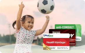KIDS BUNDLE ₱8,249 one-time payment   Includes unlimited consultations, multiple-use confinements and conditional emergency coverage up to 17 years old.