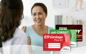 ADULTS BUNDLE ₱5,349 one-time payment   Adults Bundle includes unlimited consultations, emergency coverage, and confinements for people up to 64 years old.